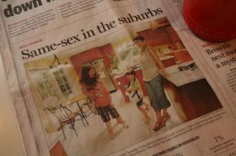 Cheryl Dumesnil family in newspaper