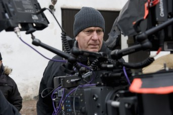 Directior Mika Kaurismaki on the set of 'The Girl King'