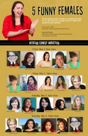 5 Funny Females show flyer