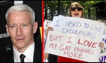 Anderson Cooper and Chik Fil A