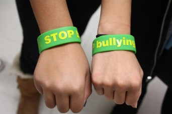Bracelets that say stop bullying