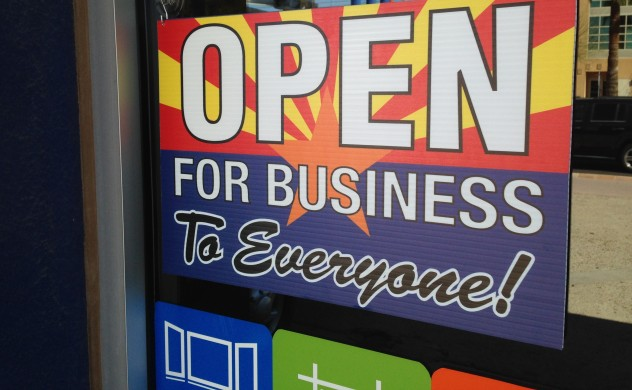 Arizona open for business sign