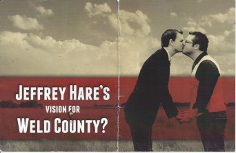 Attack Ad with gay couple's engagement photo