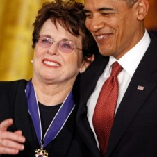Billie Jean King and President Obama