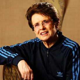 Billie Jean King in track suit