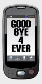 Goodbye Forever text message