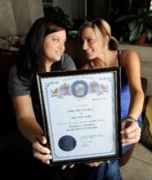 Brittney Leon and Terri Ann Simonelli
