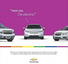 Chevy Volt comes out in ad for Motor City Pride