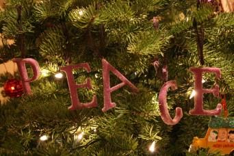 Christmas Tree Peace ornaments