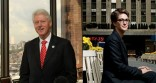Bill Clinton and Rachel Maddow