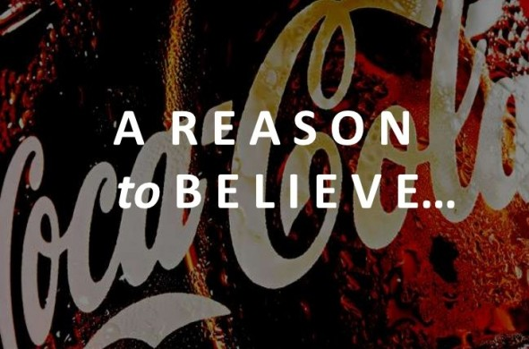 Coca Cola A Reason to Believe ad logo