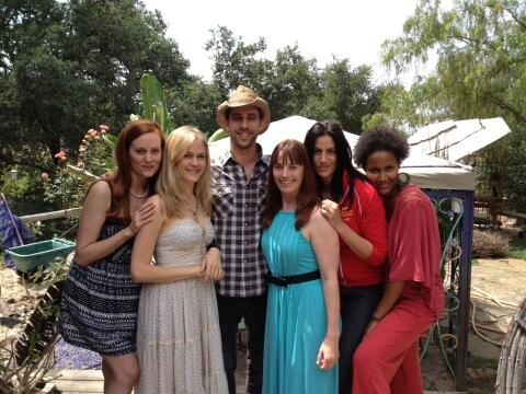 "Cast member Mary Jane Wells tweeted this photo from day 8 on the set of ""Crazy Bitches."""
