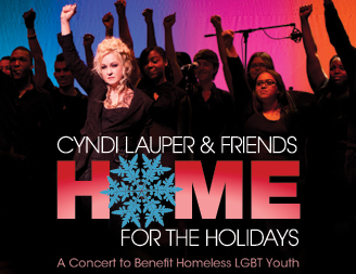 Cyndi Lauper home for the holidays ad