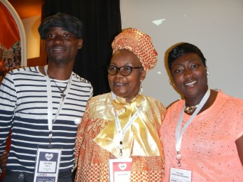 Keynote Speakers at the Human Rights Conference. L to R: Nigerian Gay Rights Activist Bisi Alimi; Keynote Speaker Alice N'Kom of Cameroon; and Phyll Opoku-Gyimah, Executive Director of UK Black Pride.