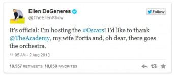 DeGeneres Oscars tweet