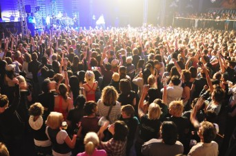Concert crowd