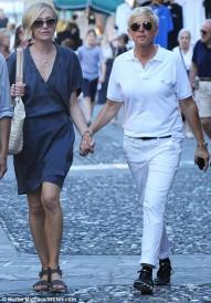 Ellen DeGeneres and Portia De Rossi vacationing in Portofino Italy