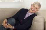 Ellen DeGeneres on sofa