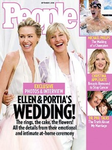 Ellen and Portia wedding People magazine cover