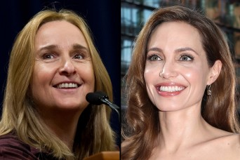 Split photo of Melissa Etheridge and Angelina Jolie