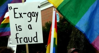 Ex gay is a fraud sign