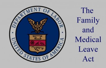 Department of Labor symbol and FMLA sign