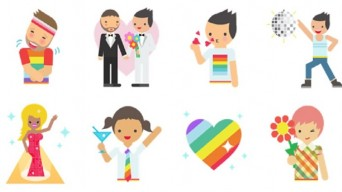 Facebook Pride stickers