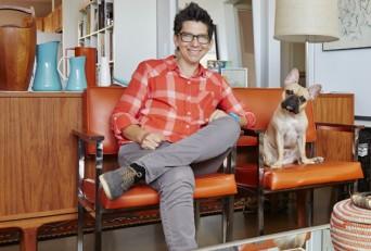 Tania Katan and her dog, Felix