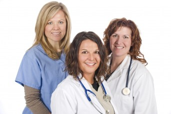 Female nurse and doctors