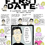 First Date Lesbian comic