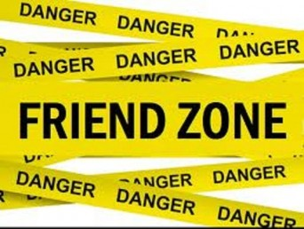 Caution tape that says Danger, Friend Zone
