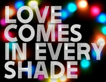 "GAP ""Love Comes in Every Shade"" campaign logo"