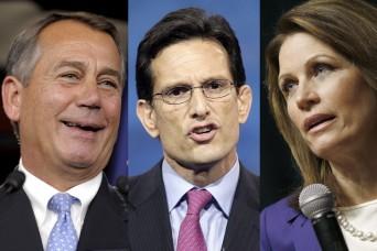 John Boehner, Michelle Bachmann and Eric Cantor
