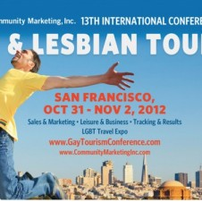 Gay and lesbian tourism conference flyer