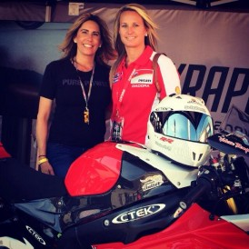 Five-time land speed record holder, Valerie Thompson, with Go AZ General Manager, Gina Marra