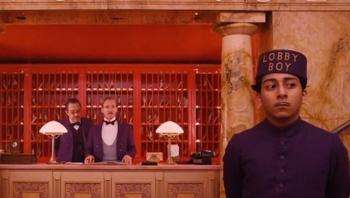 Scene from The Grand Budapest Hotel