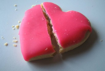 Heart cookie break up