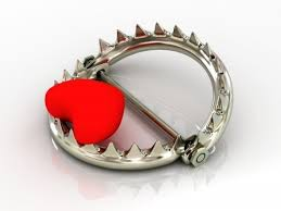 Heart in a bear trap
