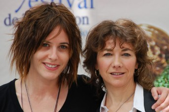 Ilene Chaiken and Katherine Moennig