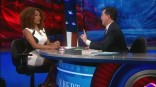 Janet Mock and Stephen Colbert