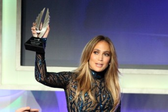 Jennifer Lopez at the 25th Annual GLAAD Media Awards