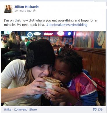 Jillian Michaels eating