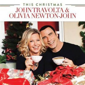 John Travolta and Olivia Newton John Christmas album cover
