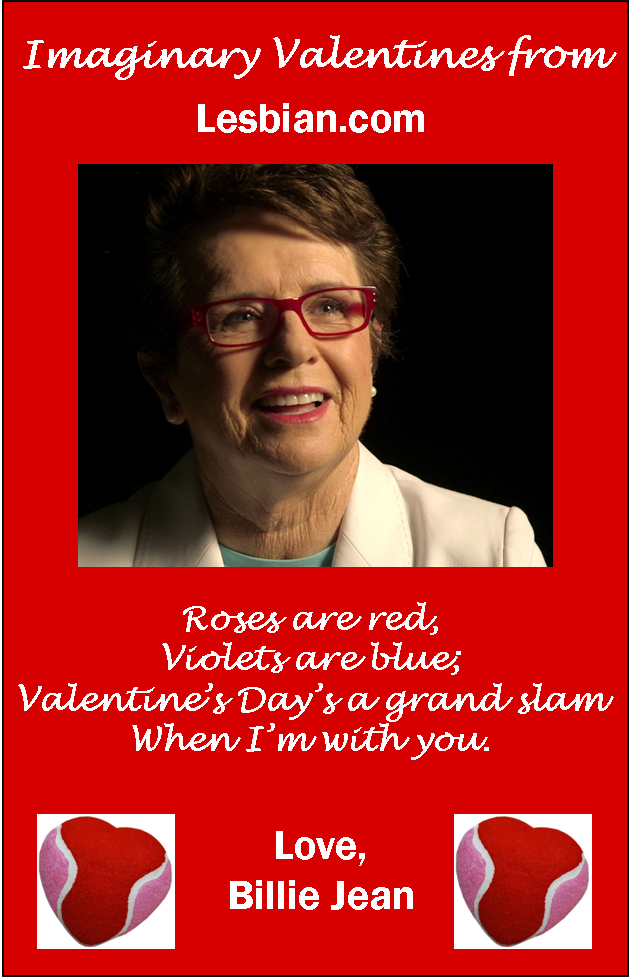 Billie Jean King Valentine