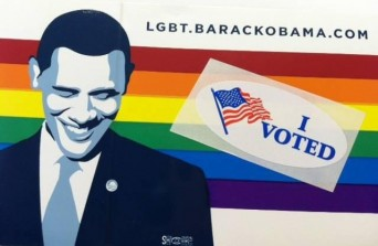 Obama LGBT sticker