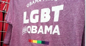 LGBT for Obama purple t-shirt