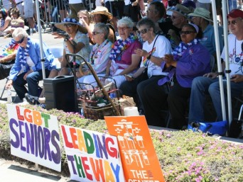 LGBT seniors at pride