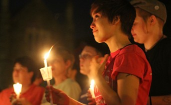 A candlelight vigil for LGBT rights in 2011 (Photo: Melissa Bradley/The Chronicle)