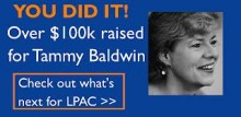 LPAC announces donation to Tammy Baldwin election effort