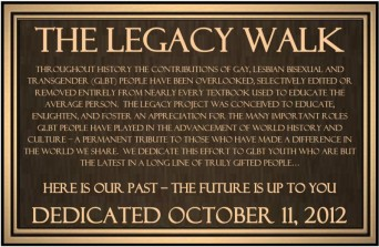 Legacy Walk Bronze Plaque